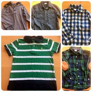 5 shirts 4t, one Polo Ralph and 4 Gymboree